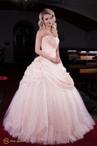 Eny atelier princess dress Anna Peach Flower
