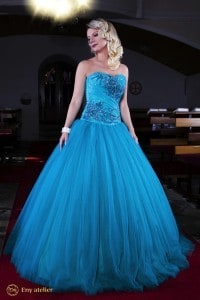 Eny atelier princess dress Anna Turquoise