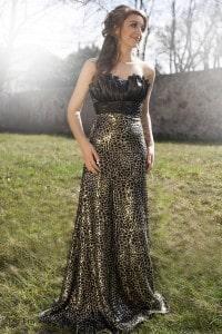 Eny ateliér večerní šaty Betty Zlatá