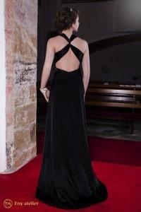 Eny atelier evening dress Betty Black 20s