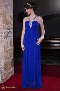 Eny ateliér večerní šaty Betty Královská 20 léta královská modrá