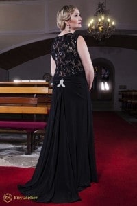 Eny ateliér večerní šaty Monna Black 20 léta černá krajka