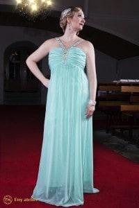 Eny ateliér večerní šaty Monna LightBlue 20 léta