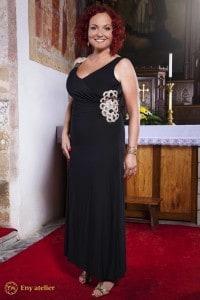 Eny ateliér večerní šaty Irene 20 léta černá