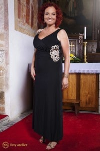 Eny atelier evening dress Irene Black 20s