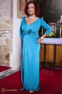 Eny atelier evening dress Irene Turquoise