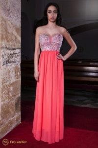 Eny atelier evening dress Cloe Neon Pink