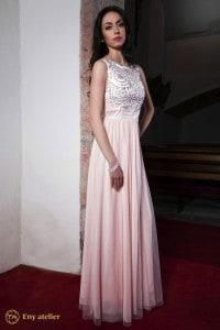 Eny atelier večerní šaty Kloe Pink