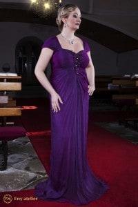 Eny atelier evening dress Monna Plum 20s