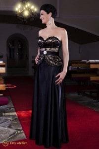 Eny ateliér večerní šaty Petty Black-Gold