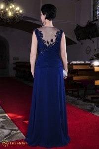 Eny ateliér Petra večerní šaty 20 léta královská modrá