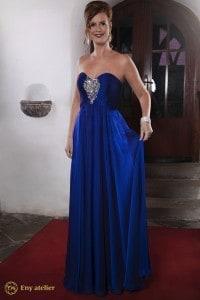 Eny ateliér večerní šaty Stefi Royal Blue 20. léta