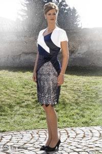 Eny ateliér společenské šaty Stefi Blue-White