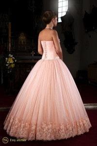 Eny ateliér svatební šaty Štěpánka meruňková princezna