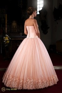 Eny atelier wedding gown Stefi Peach Flower