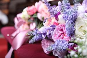 Eny atelier aplikovaná svatební kytice