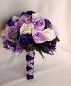 Eny atelier Bridals Bouquets - Purple and White Roses