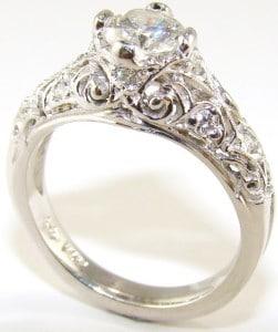 Eny ateliér zásnubní prsten - starobylé zlato