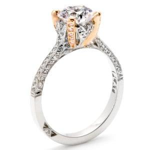 Eny ateliér zásnubní prsten - dvoubarevné zlato
