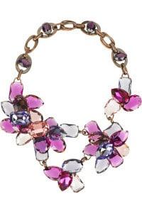 Eny ateliér náhrdelník - fialové květiny