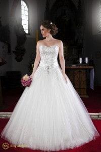 Eny atelier riccamente decorato abito da sposa