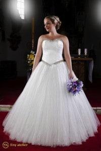 Eny atelier abito da sposa per una reina invernale