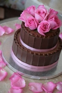 Svatebí dort - čoko