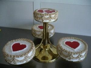 Svatebí dort - srdce