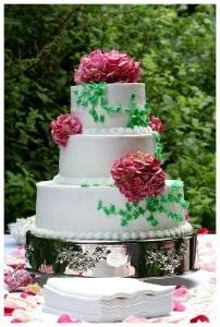 Svatebí dort - pivoně